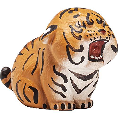 LISAQ Té de Tigre de Arena púrpura para decoración de Mascotas, Lindo Hecho a Mano, Animal auspicioso, Zodiaco, Accesorios para Jugar al té (Paquete de 2)