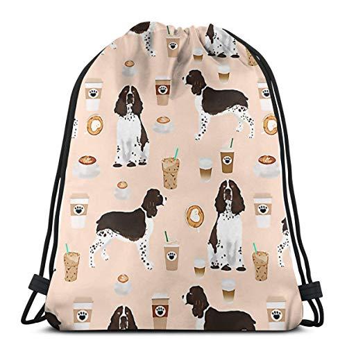 Risating Beutel mit Kordelzug, für Hunde, Kaffee, Süßigkeiten, Turnbeutel, langlebig, leicht, mit großer Kapazität, für Erwachsene, Jugendliche