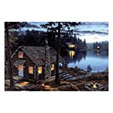 River's Edge Products LED Art 24in x 16in - Cabin Reward