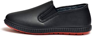 XFentech Mens PU Kitchen Chef Shoes - Casual Comfortable Sneakers Safety Shoes Anti-Slip Shoes