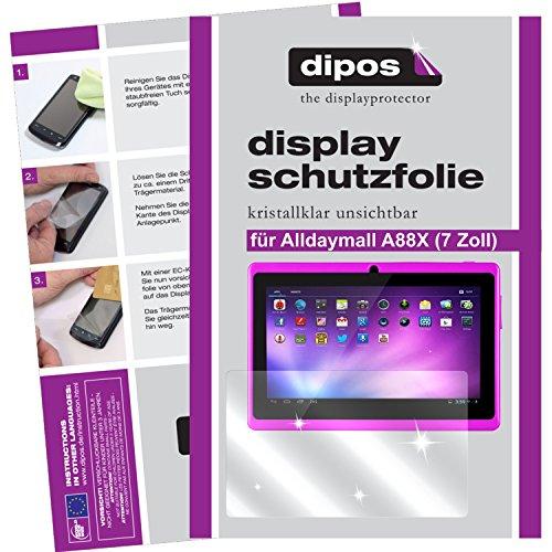 dipos I 2x Protector de Pantalla compatible con Alldaymall A88X 17,8 cm (7 Zoll) pelicula Protectora Claro