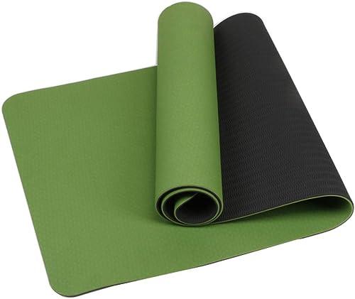 L-HOME Tapis de Fitness 6 mm Vert Gazon Double Couche Tapis de Yoga TPE Tapis de Yoga Sit-up Tapis de Yoga Vert antidérapant