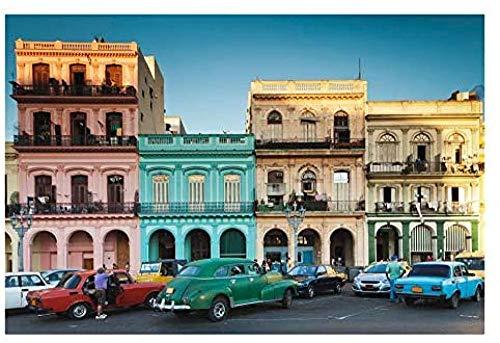 WXLSL Puzzles Puzzle 1000 Piezas para Adultos Cuba, La Habana, La Habana Vieja, Ocio Exterior Juguetes para Niños Decoración del Hogar Regalos De Arte