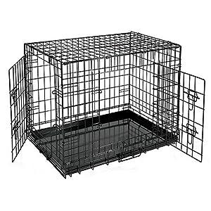 AUFUN Cage Pliante pour Chien avec 2 Portes Taille M/L/XL/XXL