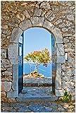 Wallario Garten-Poster Outdoor-Poster, Torbogen Toskana in