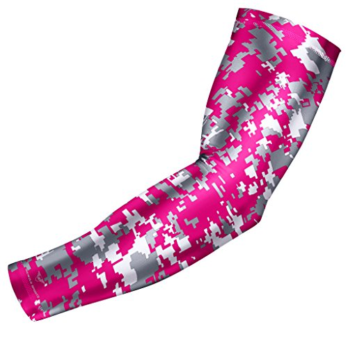 Sports Compression Arm Sleeve - Youth & Adult Sizes - Baseball Football Basketball by Bucwild Sports (1 Arm Sleeve)