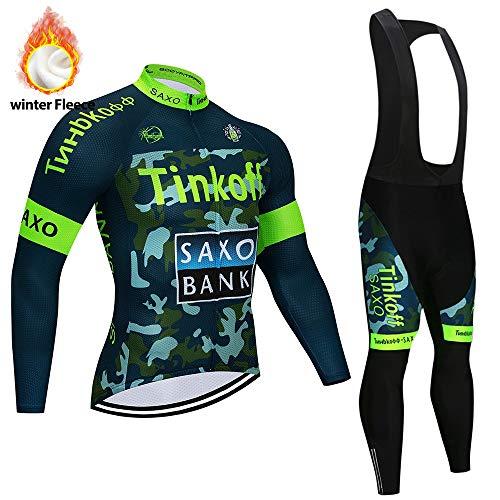 STEPANZU Maillot Ciclismo Hombre Manga Larga con 3D Gel Almohadilla Culote Pantalones...