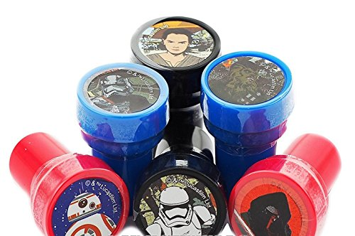 10 Pieces Self Inking Stamper Disney Pixar Nickelodeon Birthday Goody Gift Party Favors Supplies (Star Wars)