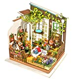 Rolife Dollhouse DIY Miniature Set-Model Building Kit-Self Assembly Construction Fairy Playset-Home Decor-Christmas Birthday Gifts for Boys Girls Women Friends (Miller's Garden)