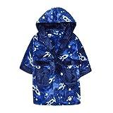 MiniKidz & 4Kidz Enfants/garçons l'espace Bleu Impression Peluche Polaire Robe de Chambre (2-3 Ans)