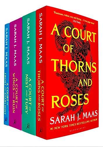 Compare Textbook Prices for A Court of Thorns and Roses Series Sarah J. Maas 4 Books Collection Set A Court of Thorns and Roses, A Court of Mist and Fury, A Court of Wings and Ruin, A Court of Frost and Starlight  ISBN 9789124015206 by Sarah J. Maas,A Court of Thorns and Roses By Sarah J. Maas,978-1619635180, 1619635186, 9781619635180,A Court of Frost and Starlight By Sarah J. Maas,978-1547600502, 1547600500, 9781547600502,A Court of Mist and Fury By Sarah J. Maas,978-1619635197, 1619635194, 9781619635197,A Court of Wings and Ruin By Sarah J. Maas,978-1619635203, 1619635208, 9781619635203