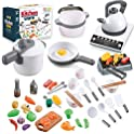 QUQUMA 52-piece Pretend Play Cookware Set with Pots and Pans