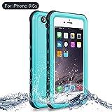 Funda iPhone 6, Funda iPhone 6s, NewTsie Anti-rasguños Impermeable Carcasa Funda Case con Protector de Pantalla Submarino Caso para iPhone 6/6s 4.7 Inch (B-Azul)