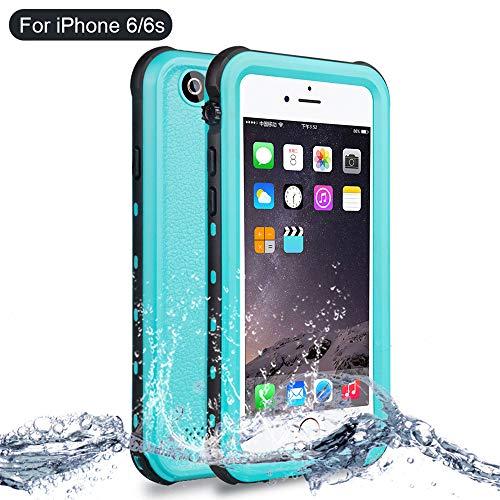 NewTsie Funda iPhone 6, Funda iPhone 6s, Anti-rasguños Impermeable Carcasa Funda Case con Protector de Pantalla Submarino Caso para iPhone 6/6s 4.7 Inch (B-Azul)