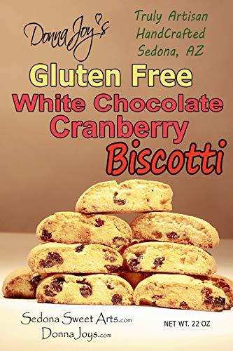 Gluten Free Biscotti, White Chocolate Cranberry Biscotti, Bulk 16-22 count,