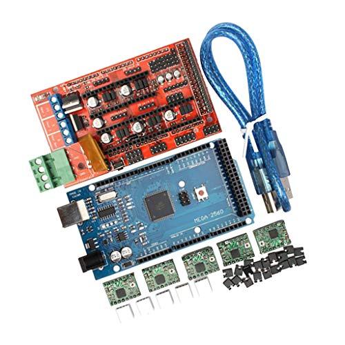 Milageto 3D Printer Kit RAMPS 1.4 Mega2560 A4988 2004LCD Controller Reprap