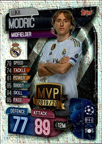 2019-20 Topps UEFA Champions League Match Attax Club MVPs #C REA Luka Modric REAL MADRID C.F. Official Futbol Soccer Trading Card Game Playing Card