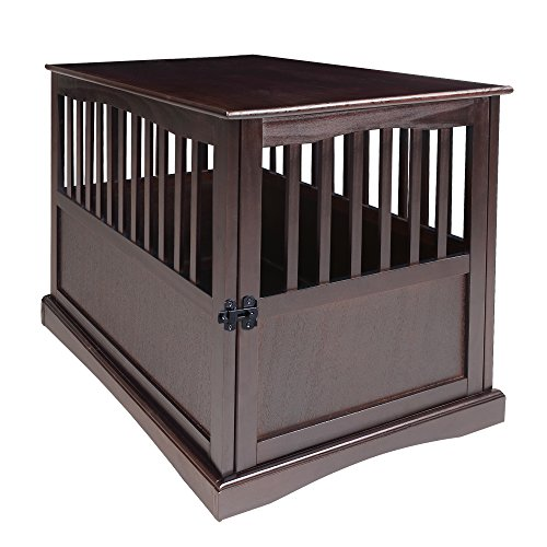 Casual Home 600-24 Wooden Pet Crate, Espresso, 27' H