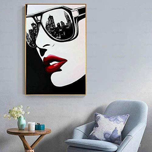 Gafas de sol de moda para mujer, kits de pintura de diamante para adultos, diamantes de cristal 5D con herramientas de accesorios, cuadro DIY arte para decoración del hogar regalo 50 x 70 cm