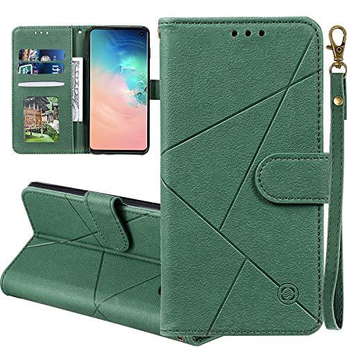 Nadoli Custodia per Galaxy A30s,Geometrico Modello Puro Colore Pelle Sintetica Elegante a Libro Portafoglio Protettivo Cover con Supporto e Porta Carte per Samsung Galaxy A30s