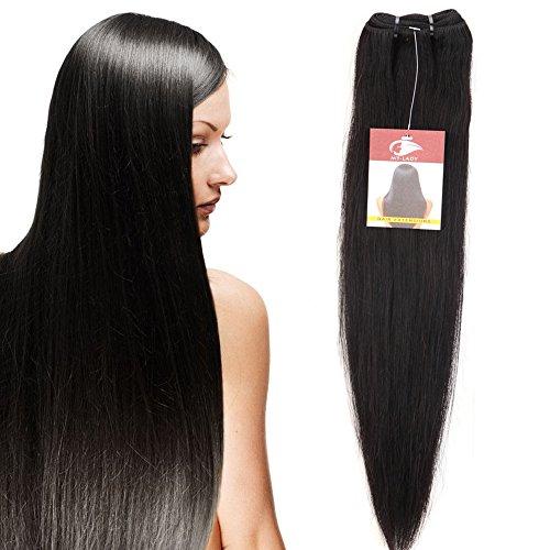 10'-24' Extensions Capelli Veri Matassa Tessitura Remy Human Hair Unprocessed 100g/Ciocca, 25cm