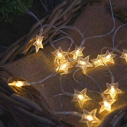 Jsmile Star String Lights, LED String Lights Fairy Lights, for Indoor, Bedroom, Ramadan, Wedding Party, Christmas Tree, New Year, Garden Decoration