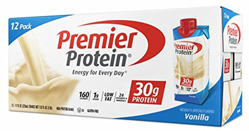 Premier Proteins Vanilla Protein Shake, 11oz (Pack of 12, Total of 132oz)