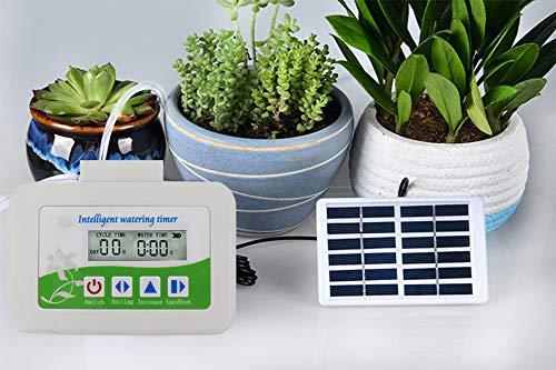 NXW Programador de Grifo Digital para jardín Temporizador de Riego Automático,Programador de Riego Jardín con Digital Pantalla LCD,Reloj de Riego con Protectora Impermeable para Agricultura