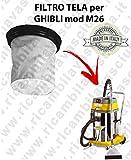 Filter Leinwand für Staubsauger Ghibli Typ M26