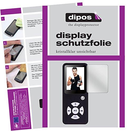 dipos I 6X Schutzfolie klar kompatibel mit Bertronic BC01 Royal MP3-Player Folie Displayschutzfolie