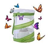 Haunen Schmetterlings- und Insektennetz, Insekt Und Schmetterling Habitat Käfig Pop-up Schutz Käfig - 14×14×18cm
