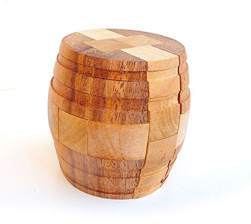 Logica Juegos Art. Barril - Rompecabezas 3D de Madera Fina - Dificultad 4/6 Extrema - Colección Leonardo da Vinci