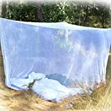 LJQLXJ Mosquitera Camping Mosquito Net Double Camping Bed Compact and Lightweight Square Outdoor Net for Camping Fishing,White