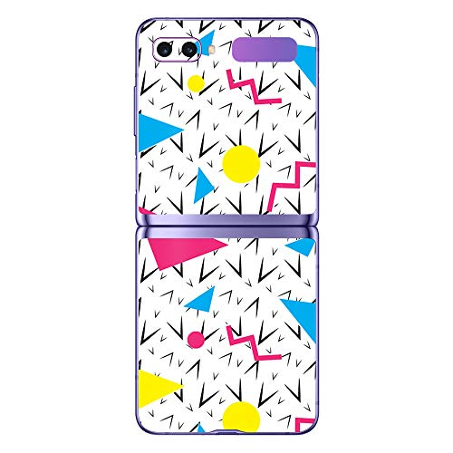 MightySkins Skin for Samsung Galaxy Z Flip - 90s Fun | Protective, Durable, and Unique Vinyl Decal wrap Cover | Easy to Apply, Remove, and Change Styles | Made in The USA