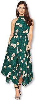 AX Paris Women's Floral Print High Neck Dress