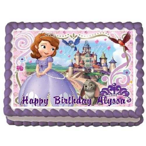Awe Inspiring Amazon Com Sofia The First 4 Edible Frosting Sheet Cake Topper Funny Birthday Cards Online Inifodamsfinfo