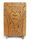 FREE ENGRAVING Custom Laser Cut Wood Anniversary Card. Customize OnLine (Card Only)