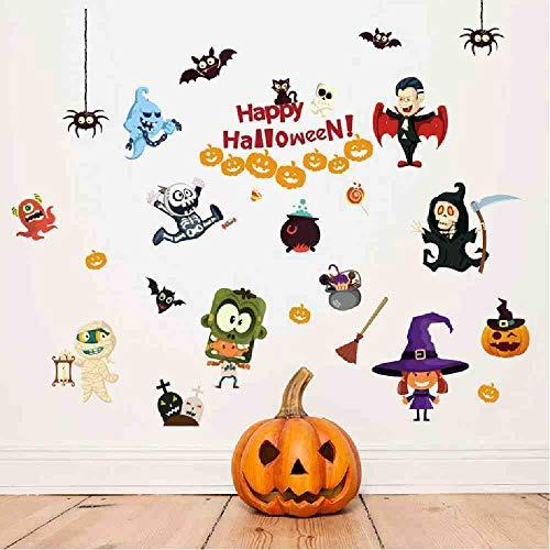 JPDP Halloween Haunted Huis Elfen met Xpress Kinderen Kamer Slaapkamer Woonkamer Muurstickers Aangepaste Huis Meubels Achtergrond