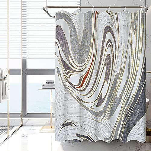 AVNICUD Duschvorhang, Badvorhang in Altgold, waschbar, Wasser- & schimmelresistent, antibakteriell, 120 x 180 cm, 180 x 200 cm (180 x 200 cm)