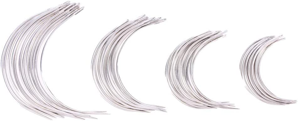 Free Shipping New EXCEART 96pcs Curved Weaving Needle C Type Hand Pi Be super welcome Sewing