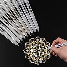 White, Gold and Silver Gel Pen Set for Artist - 3 Colors (9 Pack) Gel Ink Pens for Black Paper Drawing, Sketching, Manga, Illustration