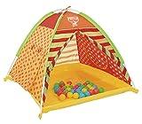 BESTWAY - Piscina de Bolas Play Land 112x112x90 cm con Tienda de Campaña y 40 Bolas de Colores Para Niños y Niñas Mayores de 3 Años Incluye Bolsa de Transporte