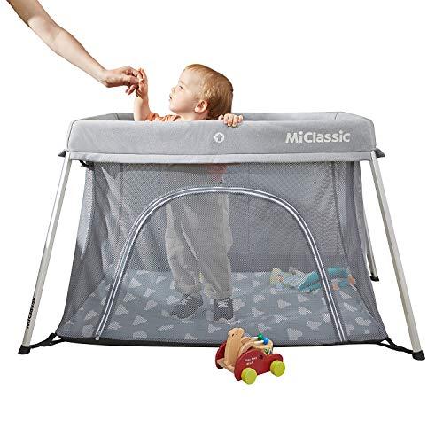 MiClassic Easy Folding Super Light Travel Bed Baby Crib Play Yard