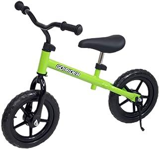スタンド 付 足こぎ 自転車 GO!RIDER 緑 ブレーキ 無 / GR-02S-GR / ###自転車GR-02S緑###