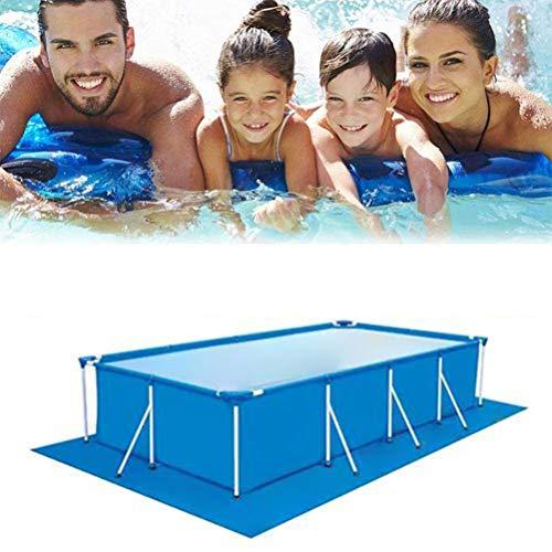 KENANLAN Zwembad Kussen Zwembad Beschermingsmat Rechthoekige Zwembad Mat voor de Boven Grond Zwembad, 445 * 254cm