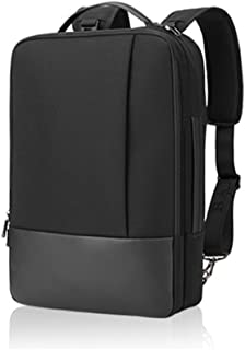 GLJ Men's Shoulder Bag Multi-Purpose Simple Leisure Laptop Shoulder Bag Backpack (Color : Black)
