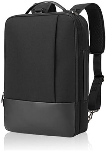 LBYMYB Herren Schultertasche Mehrzweck Einfache Freizeit Laptop Schultertasche Kinderrucksack (Farbe   Schwarz