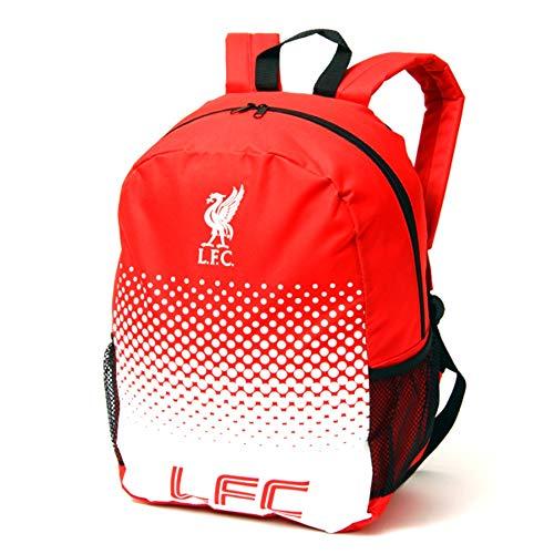 Mochila ajustable con cremallera de equipo de fútbol, diseño oficial, Liverpool FC