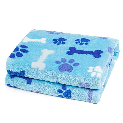 ALLISANDRO® Hundedecke Haustier Katzen Decke Flanell Blau sehr Weich und Schöne perfekt für Winter(100 * 80cm)