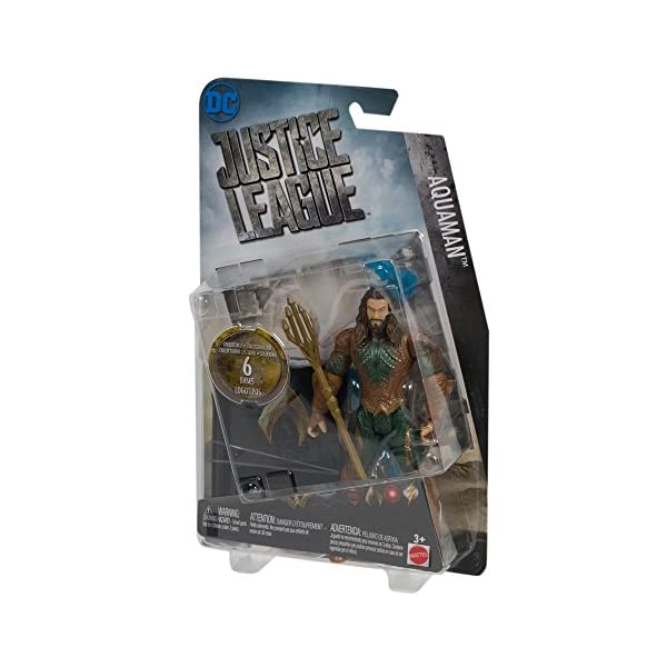 Mattel DC Comics Justice League Aquaman Logo Plates 6 Inch Figura De Acción 2